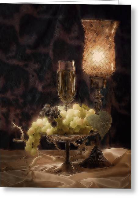 Fine Wine Still Life Greeting Card by Tom Mc Nemar