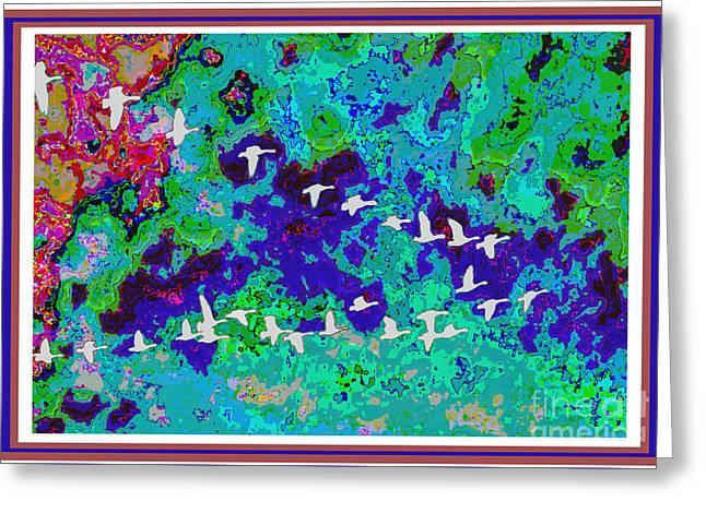 Fineart Birds Of Paradise Creation By Navinjoshi At Fineartamerica.com Signature Selection Emporium Greeting Card by Navin Joshi