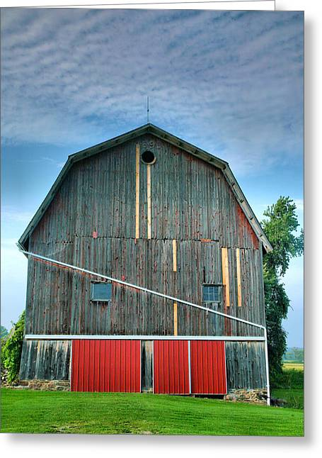 Barn Print Greeting Cards - Finger Lakes Barn IV Greeting Card by Steven Ainsworth