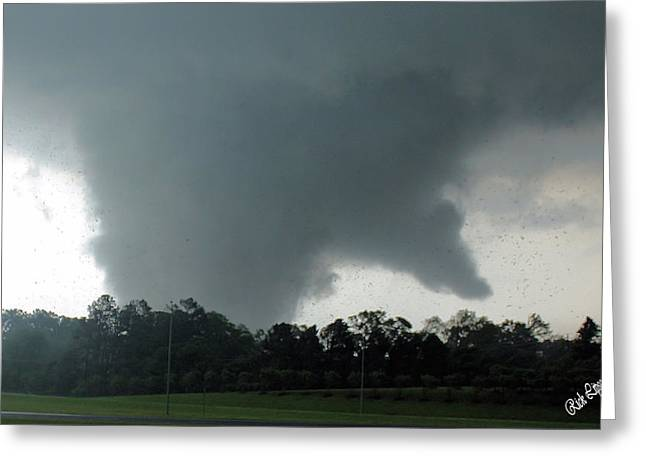 Finger Of God Greeting Card by Rick Lipscomb