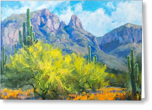 Finger Rock Tucson Az Greeting Card by Becky Joy