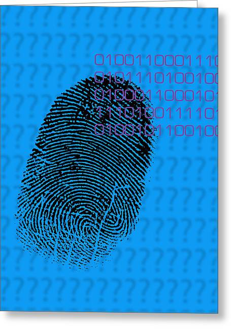 Forensic Greeting Cards - Fingerprint Greeting Card by David Nicholls