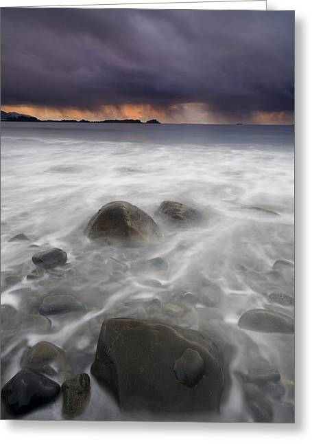 Beach Greeting Cards - Fingers of the Storm Greeting Card by Mike  Dawson