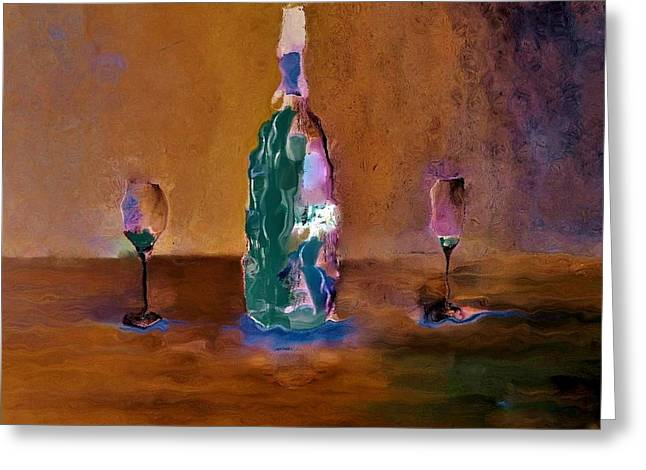 Bottles Greeting Cards - Finished Greeting Card by Lisa Kaiser