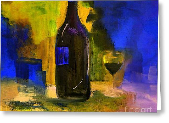 One Last Glass Before Bed Greeting Card by Lisa Kaiser