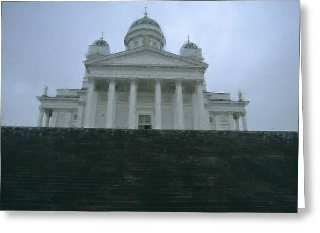 Protestantism Greeting Cards - Finland, Helsinki, Helsinki Cathedral Greeting Card by Keenpress