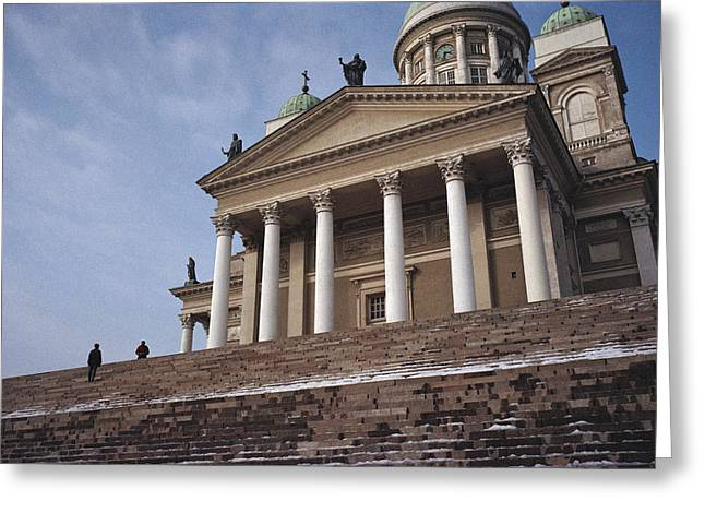 Protestantism Greeting Cards - Finland, Helsinki, Lutheran Cathedral Greeting Card by Keenpress