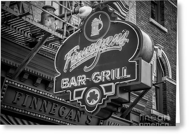Store Fronts Greeting Cards - Finnegans Greeting Card by Perry Webster