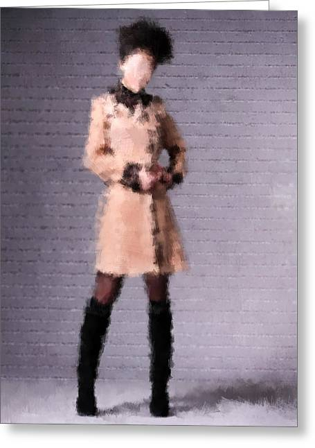 Fashion Art For Print Greeting Cards - Fiona Greeting Card by Nancy Levan