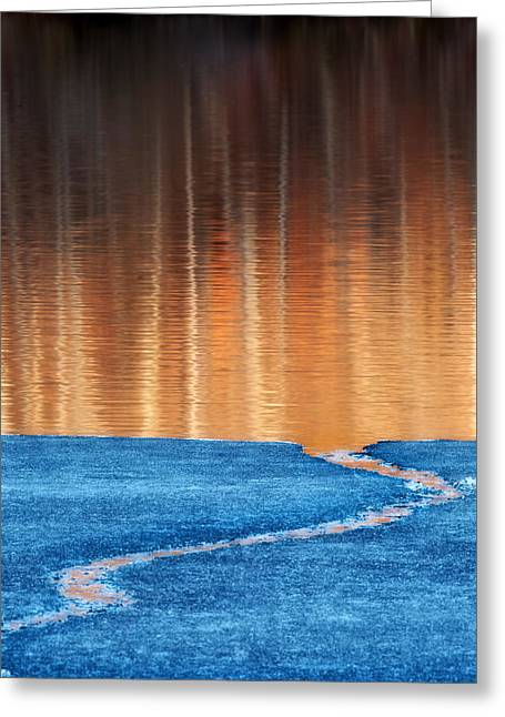 Reflection In Water Greeting Cards - Fire and Ice Greeting Card by Bill Wakeley