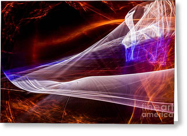 Abstract Digital Photographs Greeting Cards - Fire and Ice Greeting Card by Francis Oberholzer