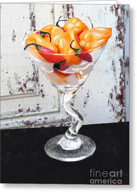 Transformative Art Greeting Cards - Fire and Ice Greeting Card by Lisa Redfern