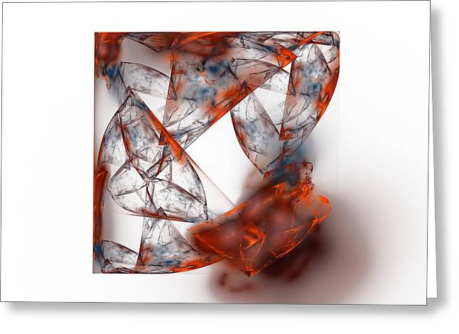 Consume Digital Greeting Cards - Fire and Ice Greeting Card by Mark Bowden