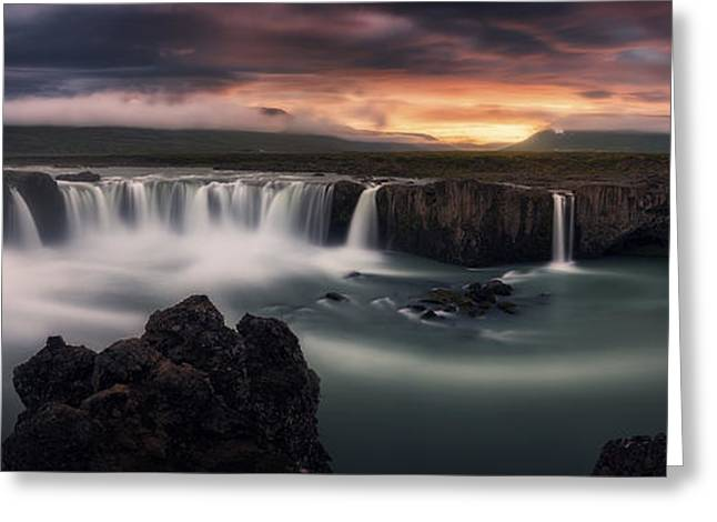 Long Exposure Greeting Cards - Fire And Water Greeting Card by Stefan Mitterwallner