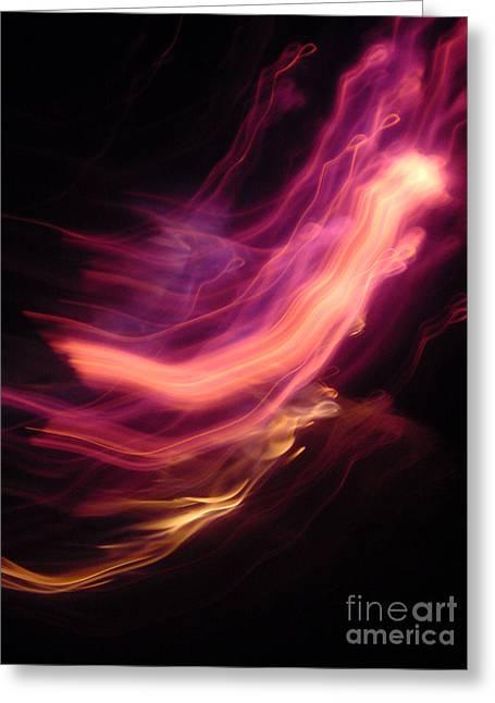 Fire Angels Greeting Card by JoAnn SkyWatcher