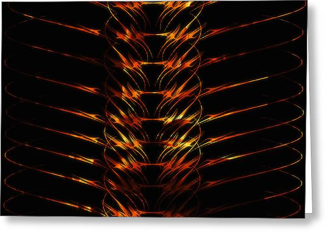 Abstract Digital Photographs Greeting Cards - Fire Braid Greeting Card by Lynn Lisitza