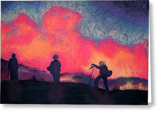 Crew Greeting Cards - Fire Crew Greeting Card by Joshua Morton