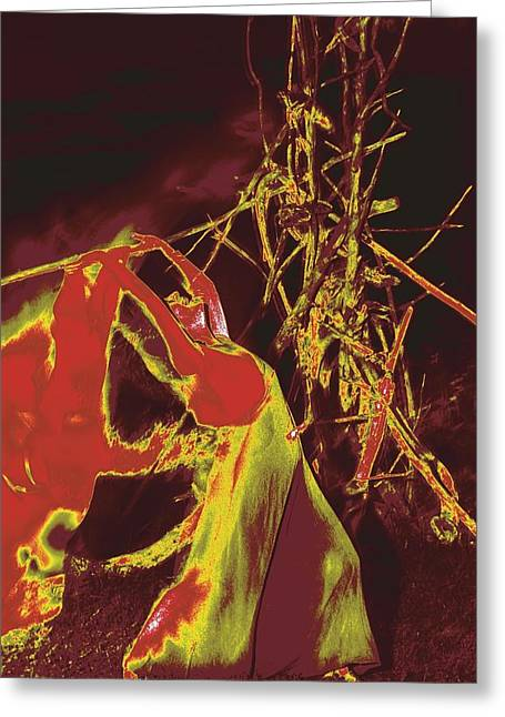 Lanvin Greeting Cards - Fire Dance / 2 Greeting Card by Jean-Marie Bottequin