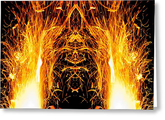 The Nature Center Greeting Cards - Fire Elemental Greeting Card by EnDora TwinkLens