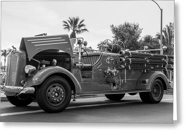 Challenger Model Greeting Cards - Fire Engine Greeting Card by Phil Fitzgerald