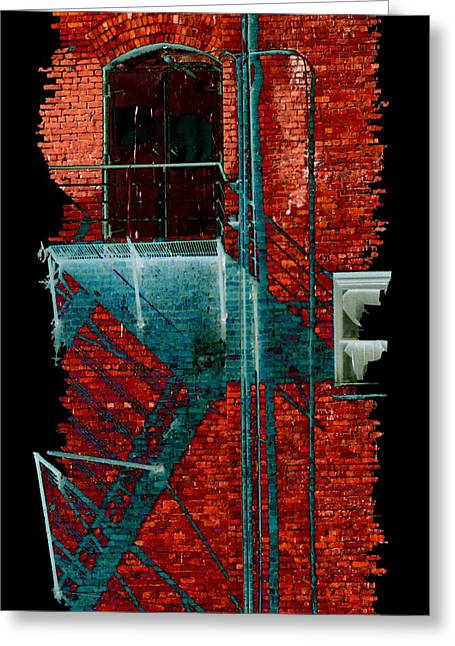 Doorway Digital Greeting Cards - Fire Escape 7 Greeting Card by Tim Allen