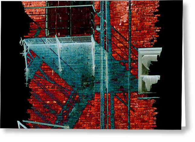 Fire Escape 7 Greeting Card by Tim Allen