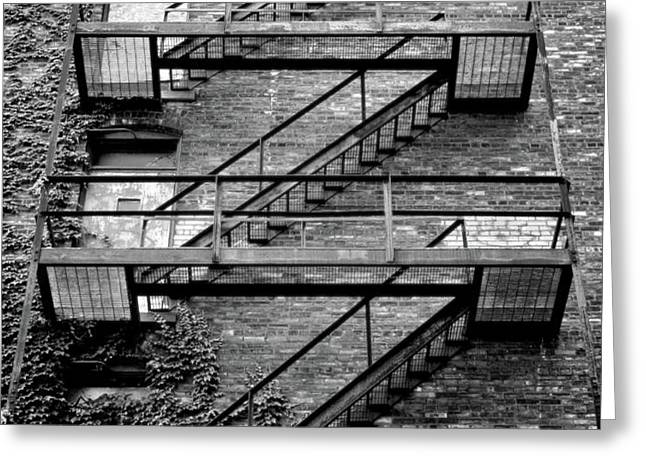 Fire Escape Greeting Card by Odd Jeppesen