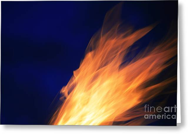 Gray Flames Greeting Cards - Fire Fire Greeting Card by Brandon Tabiolo - Printscapes