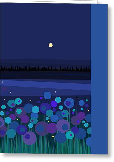 New At Digital Greeting Cards - Fire Flies Greeting Card by Val Arie