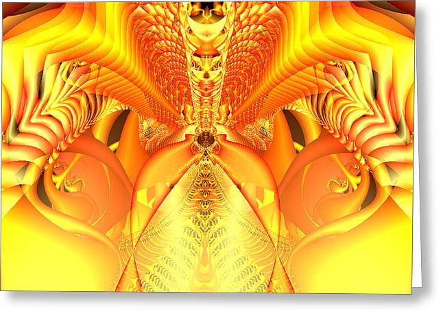 Fire Goddess Greeting Card by Gina Lee Manley