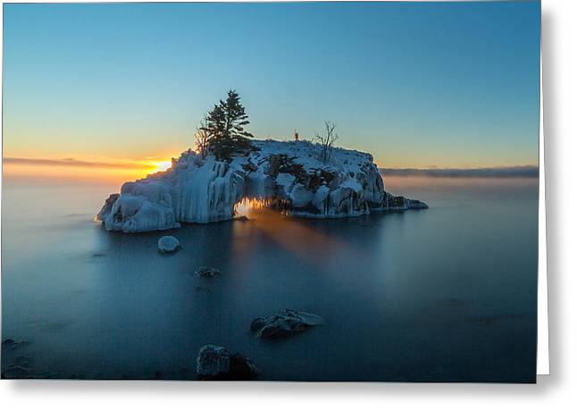 Fire Hole // North Shore, Lake Superior  Greeting Card by Nicholas Parker