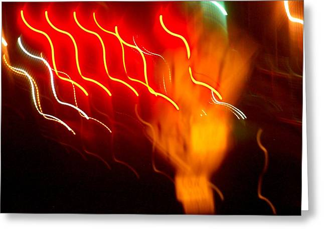 Synchronous Greeting Cards - Fire In The Light Greeting Card by Edward Loesch