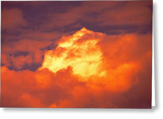 Roiling Greeting Cards - Fire In The Sky Greeting Card by John Foote