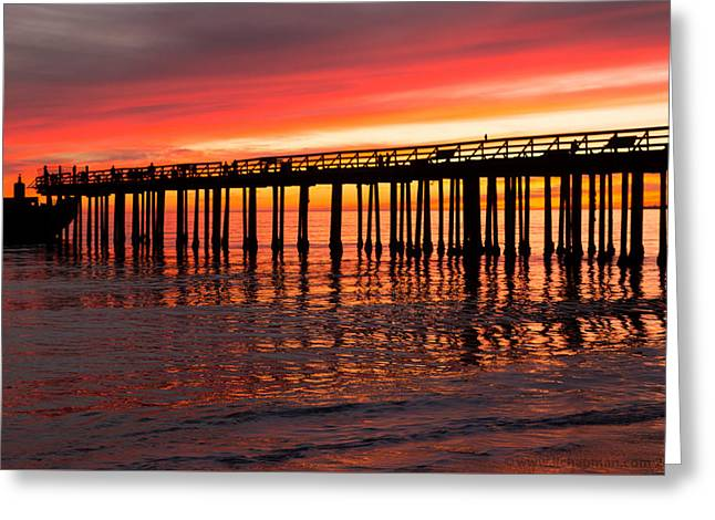 Fire In The Sky Greeting Card by Lora Lee Chapman