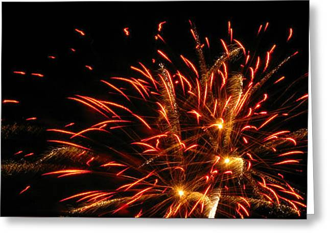 4th July Photographs Greeting Cards - Fire in the Sky Greeting Card by M E Cieplinski