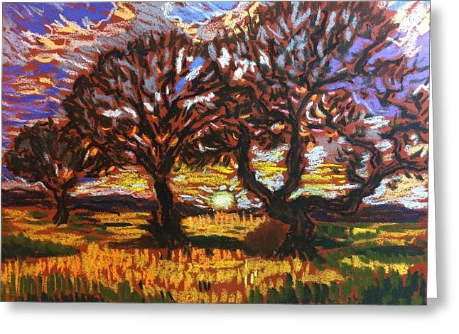 Set Pastels Greeting Cards - Fire in the Sky Greeting Card by Tim Bruneau