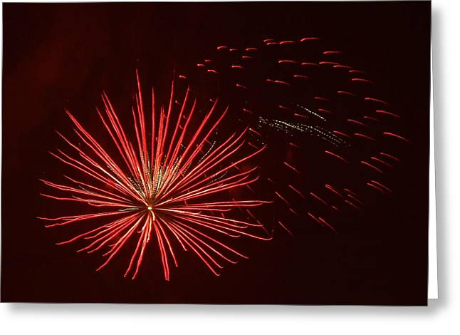 Independance Greeting Cards - Fire In The Sky Greeting Card by Zully Bartley
