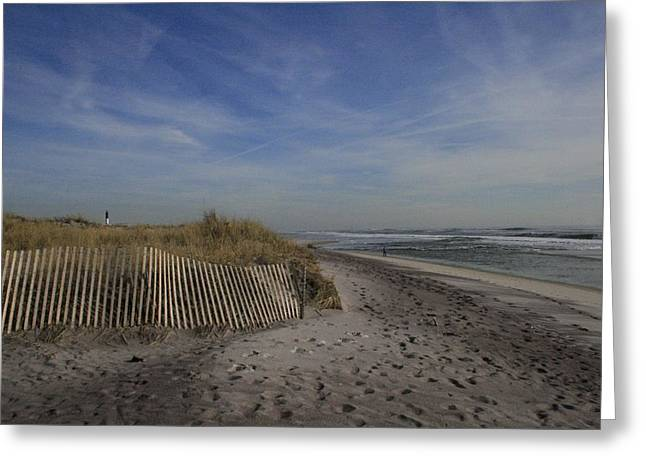 Long Island Photographs Greeting Cards - Fire Island Dune Fence Greeting Card by Christopher Kirby