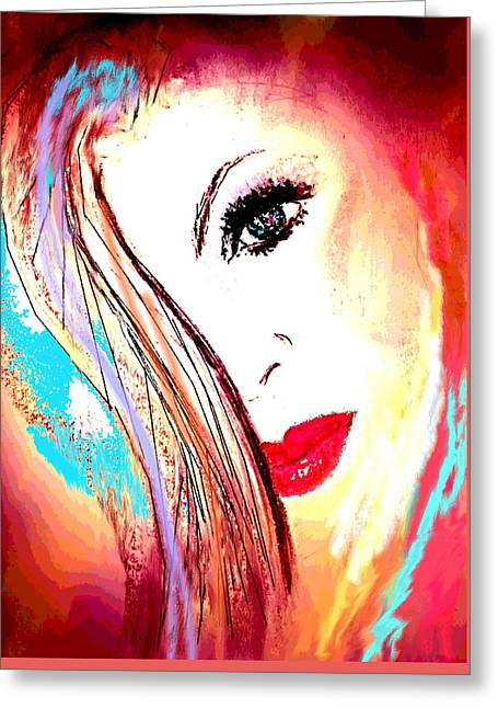 Enhanced Pastels Greeting Cards - Fire n Ice Greeting Card by Desline Vitto