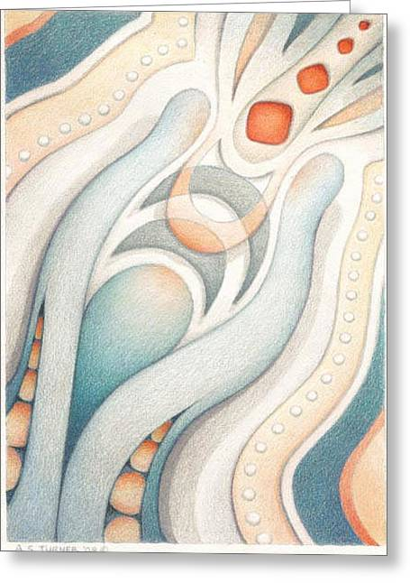 Muted Drawings Greeting Cards - Fire of Inspiration Greeting Card by Amy S Turner
