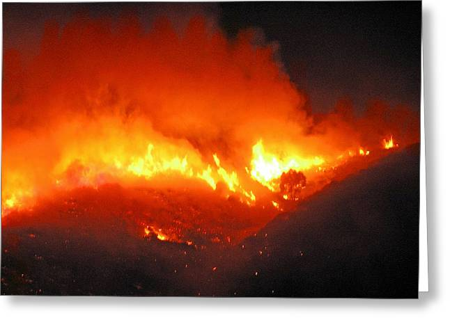 Cape Town Greeting Cards - Fire on Signal Hill Greeting Card by Michael Durst