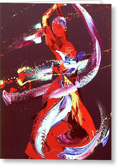 Fire Greeting Card by Penny Warden