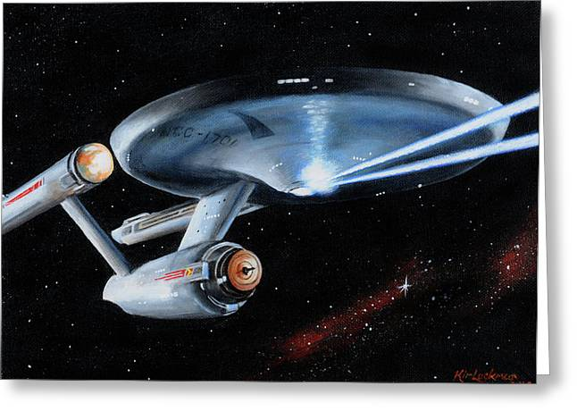 Enterprise Greeting Cards - Fire Phasers Greeting Card by Kim Lockman