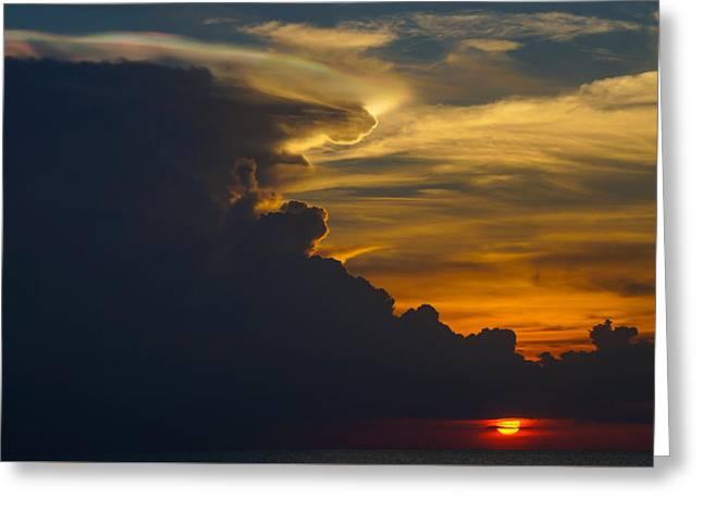 Pangkor Greeting Cards - Fire rainbow Greeting Card by Shaiful Zamri Masri