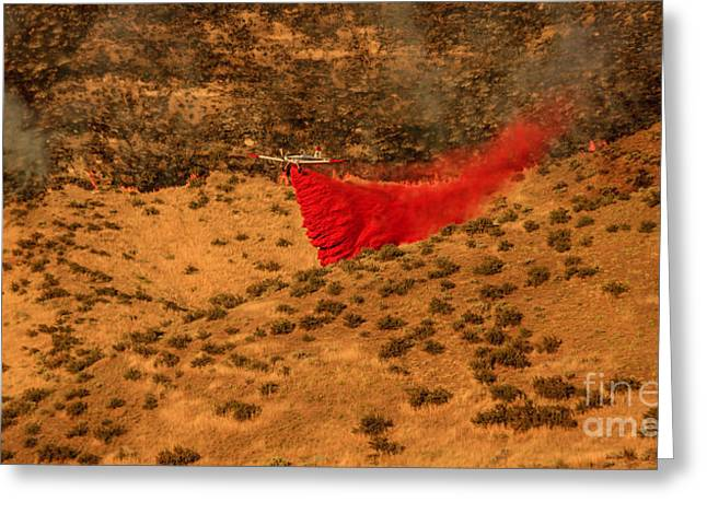 Fighter-bomber Photographs Greeting Cards - Fire Retardant Greeting Card by Robert Bales