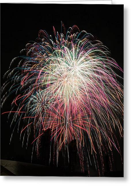 4th July Greeting Cards - Fire Shower Greeting Card by Caleb McElhaney