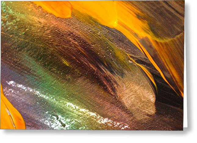 Fire Storm Abstract Greeting Card by Jeff Swan