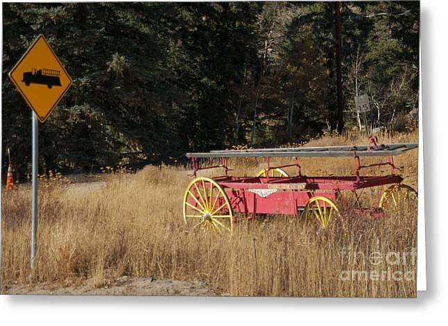 Colorado Fires Greeting Cards - Fire Truck Crossing Greeting Card by David Pettit