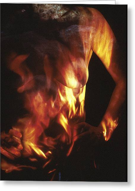 Best Sellers -  - Figure Based Greeting Cards - Fire Two Greeting Card by Arla Patch