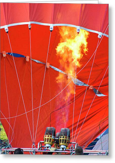 Hot Air Balloons Greeting Cards - Fire UP Greeting Card by Brian Roscorla